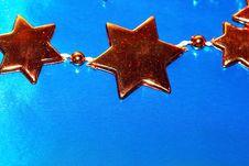 Free Orange Christmas Stars Stock Images - 3348344