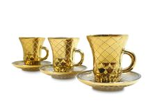 Free Three Gilt Cups Royalty Free Stock Image - 3348366