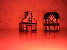 Free Red Houses 2 Royalty Free Stock Images - 3348539