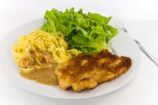 Free Milanese-,viennese Steak,close Stock Photography - 3348912