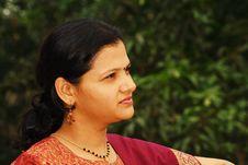 Free Ambitious Maharshtrian Woman Stock Photo - 3349130