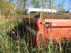 Rusty Truck S Tailgate Stock Photo