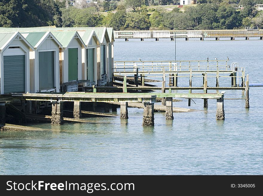 Boat Sheds on the Water Front