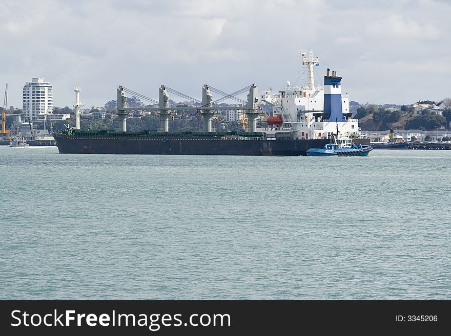 Container Ship & Tug Boat