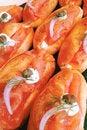 Free Smoked Salmon Soft Roll Stock Photo - 33403500