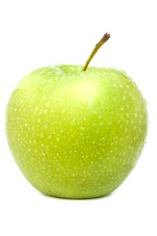 Free Green Apple Wet Royalty Free Stock Images - 33400989