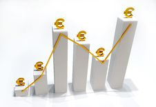 Euro Statistic Finance Stock Photo