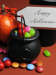 Free Happy Halloween Trick Or Treat. Close Up. Royalty Free Stock Photography - 33402577
