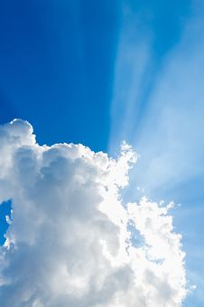 Free Clouds In The Blue Sky Royalty Free Stock Image - 33403766