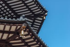 Close-Up Japanese Pagoda Stock Photo
