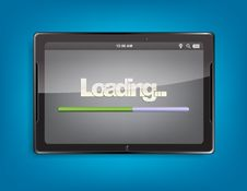 Free Tablet Computer With Loading Bar Stock Image - 33411111