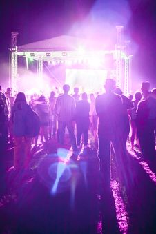 Free Outdoor Concert Bright And Loud Royalty Free Stock Photos - 33412698