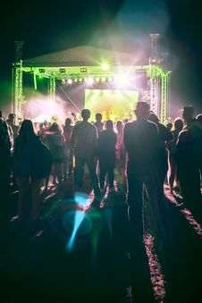 Free Outdoor Concert Bright And Loud Stock Photography - 33412772