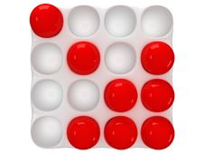 Free Cassette With Round Cells And Red Orbs Stock Images - 33413954