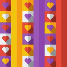 Free Background With Hearts In Flat Icon Style Stock Photos - 33417713