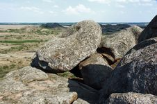 Free Ukraine. Natural Reserve Stone Tombs Royalty Free Stock Image - 33418106