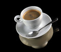 Free Cup Of Coffee On The Black Royalty Free Stock Photography - 33420397