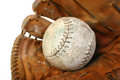 Free Softball And Mitt Royalty Free Stock Photos - 33422418