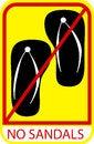 Free Sign - No Sandal Stock Photos - 33424963