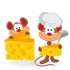 Free Mouse Cook With Cheese Stock Image - 33421511