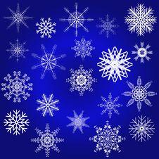 Decorative Snowflake Winter Set Royalty Free Stock Image