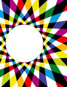 Rainbow Spirograph Background Stock Image