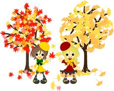 Free Red Leaves And Yellow Leaves-3 Stock Photography - 33423932