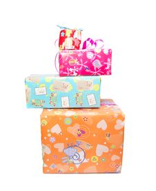 Free Irregularly Stacked Gift Boxes Stock Photos - 33457833