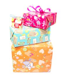 Free Irregularly Stacked Gift Boxes Stock Images - 33457964