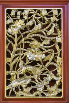 Free Traditional Ancient Chinese Decorative Window Frame Stock Images - 33458914