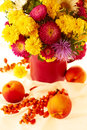 Free Fall Flowers And Fruits Royalty Free Stock Images - 33460829