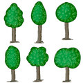 Free Hand Drawn Trees Stock Photography - 33464352