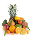 Free Set Of Citrus And Tropical Fruits Royalty Free Stock Images - 33468969