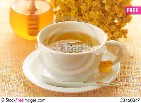 Free Herbal Yellow Tea Royalty Free Stock Photography - 33460847