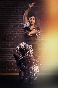 Free Flamenco Dancer In Motion Royalty Free Stock Image - 33461266