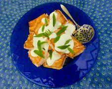 Baked Salmon With Lemon Sauce Royalty Free Stock Image
