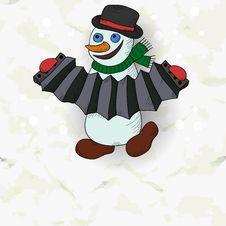 Free Merry Snowman Royalty Free Stock Photo - 33464155