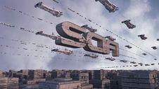 Futuristic City SCIFI Stock Photos