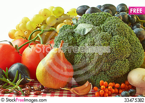 Free Fall Fruits And Vegetables Stock Photography - 33475382