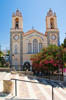 Free Church Of St. Panteleimon. Rhodes, Greece. Stock Image - 33470411