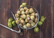 Free A Bowl Of Fresh Hazelnuts Royalty Free Stock Photos - 33472218