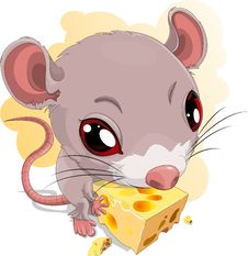 Mouse And Chees Stock Image