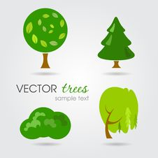 Free Vector Trees Collection Royalty Free Stock Photos - 33475508