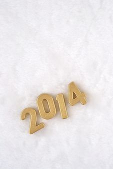 Free 2014 Year Golden Figures Stock Image - 33476831
