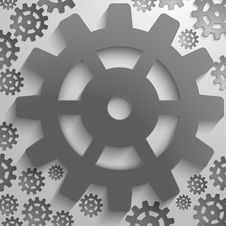 Free Abstract Backgrund Design With Cog Wheel Royalty Free Stock Photos - 33478098