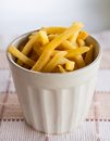 Free French Fries In White Cup Royalty Free Stock Photography - 33488217
