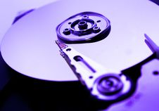 Free Close Up Of Hard Disk With Abstract Reflection Royalty Free Stock Photo - 33480155