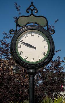 Street Clock Stock Image