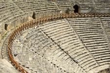 Amphitheater In Hierapolis, Pamukkale - Turkey. Royalty Free Stock Photography