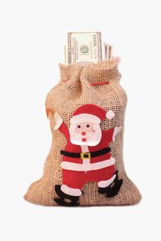 Free Bag Of Money With The Image Of St. Nicholas Royalty Free Stock Photo - 33489595
